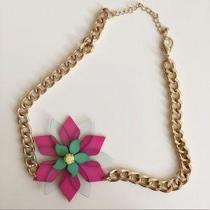 Top shop flower necklace
